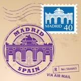 Timbre Madrid réglé Photographie stock libre de droits