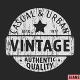 Timbre occasionnel et urbain de vintage illustration stock