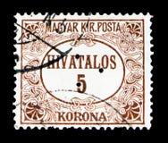Timbre officiel, poinçon triangulaire, serie, vers 1922 Image stock