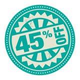 Timbre ou label abstrait avec le texte 45 pour cent outre d'Institut central des statistiques écrit Illustration de Vecteur