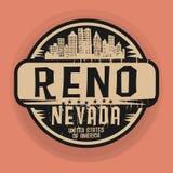 Timbre ou label avec le nom de Reno, Nevada illustration de vecteur