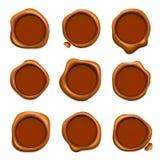 Timbre postal de cire Calibre réaliste de cirage rouge en caoutchouc de collection de timbres de garantie ou de courrier illustration de vecteur