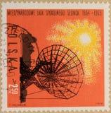 Timbre postal de la Pologne, consacré à l'année du Sun tranquille photos libres de droits