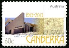 Timbre-poste australien de Canberra Photographie stock libre de droits