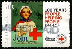 Timbre-poste australien de Croix-Rouge Image stock