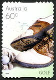Timbre-poste australien de golf Image stock