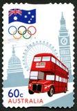 Timbre-poste australien de Jeux Olympiques de Londres Photographie stock libre de droits