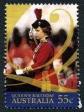 Timbre-poste australien de la Reine Elizabeth II Photos stock