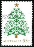 Timbre-poste australien de Noël Images stock