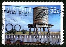 Timbre-poste australien de paysages ondulés Photos libres de droits