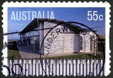 Timbre-poste australien de paysages ondulés Photo stock