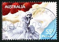 Timbre-poste australien de vacherin Image stock