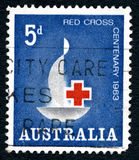 Timbre-poste australien international de Croix-Rouge Photo stock