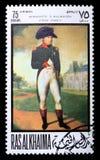 Timbre-poste avec Napoleon Photo libre de droits