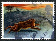 Timbre-poste BRITANNIQUE d'hiver images libres de droits