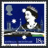 Timbre-poste BRITANNIQUE de bicentenaire australien Photographie stock libre de droits