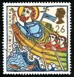 Timbre-poste BRITANNIQUE de Columba de saint photos stock