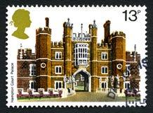 Timbre-poste BRITANNIQUE de Hampton Court Palace photos libres de droits