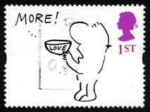 Timbre-poste BRITANNIQUE de Mel Calman Humorous Image stock