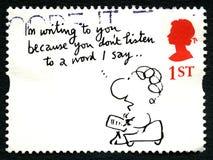 Timbre-poste BRITANNIQUE de Mel Calman Humorous photos stock