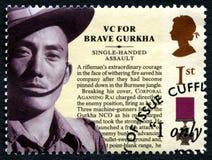 Timbre-poste BRITANNIQUE de Victoria Cross de Gurkha photo libre de droits