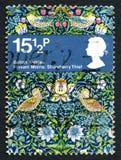 Timbre-poste BRITANNIQUE de William Morris Photo libre de droits
