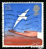 Timbre-poste BRITANNIQUE des Nations Unies Photographie stock libre de droits