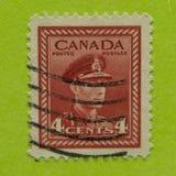 Timbre-poste canadien de vintage photos stock