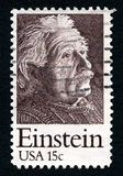 Timbre-poste d'Albert Einstein Used USA Photographie stock