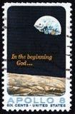Timbre-poste d'Apollo 8 Etats-Unis 5c Images libres de droits