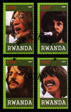 Timbre-poste de Beatles du Rwanda Images stock
