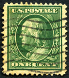 Timbre-poste de Benjamin Franklin USA Photo libre de droits