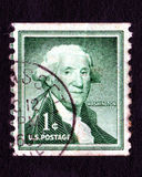 Timbre-poste de George Washington Etats-Unis 1c de cru Photo stock