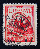 Timbre-poste de Liethuania 60 cents Photo libre de droits