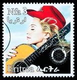 Timbre-poste de Madonna Photos libres de droits