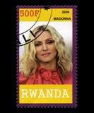 Timbre-poste de Madonna du Rwanda Photographie stock libre de droits