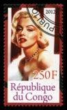 Timbre-poste de Marilyn Monroe Photographie stock