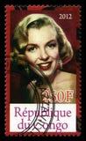 Timbre-poste de Marilyn Monroe Photos libres de droits