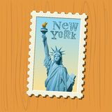 Timbre-poste de New York Images libres de droits