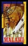Timbre-poste de Pape Jean Paul II Image libre de droits