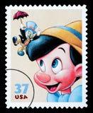 Timbre-poste de Pinocchio Photographie stock libre de droits