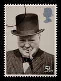 Timbre-poste de Winston Churchill Photos stock