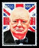 Timbre-poste de Winston Churchill Photos libres de droits