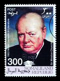 Timbre-poste de Winston Churchill Photographie stock