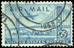 Timbre-poste des USA photographie stock