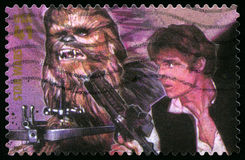 Timbre-poste des USA de Star Wars Photos libres de droits