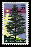 Timbre-poste du Michigan USA Images libres de droits
