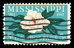 Timbre-poste du Mississippi USA Photos libres de droits