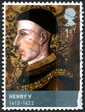 Timbre-poste du Roi Henry V images libres de droits