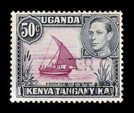 Timbre-poste imprimé par l'Ouganda, le Kenya et le Tanganyika photos libres de droits